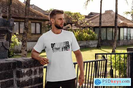 T-Shirt Mock-Up Tropic Weekend 3808013