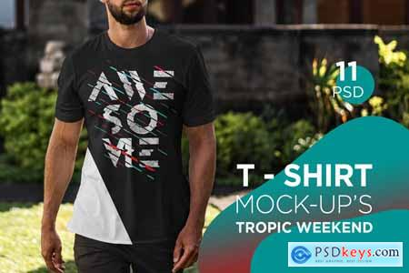T-Shirt Mock-Up Tropic Weekend 3808013