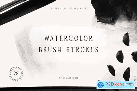 Watercolor Brush Strokes Vol. I 3737020