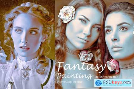 Fantasy Painting Photoshop Action 3864475