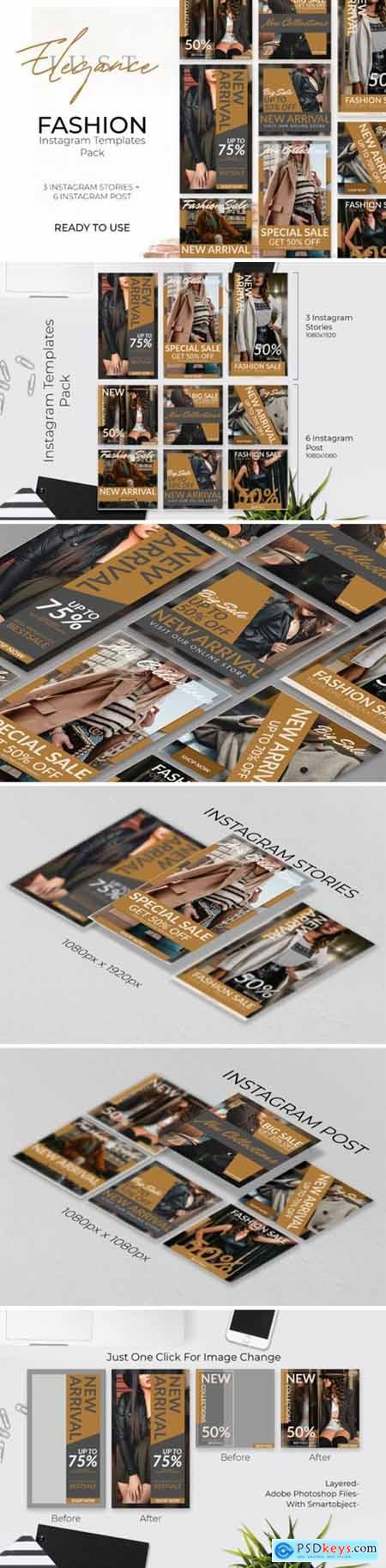 Instagram Post & Stories Template Pack 1684626