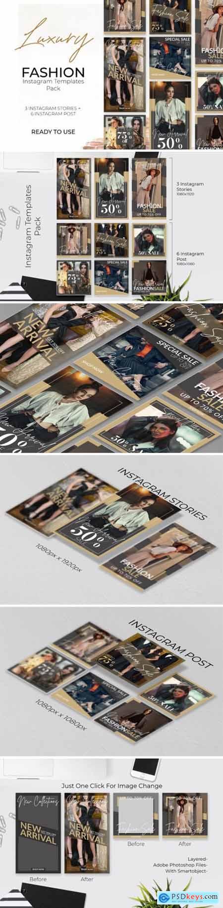 Instagram Post & Stories Template Pack 1684629