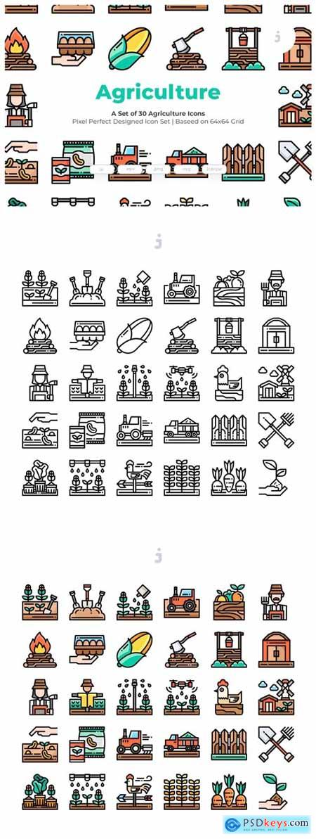 30 Agriculture Icons