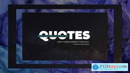 VideoHive Simply Quotes 24314819