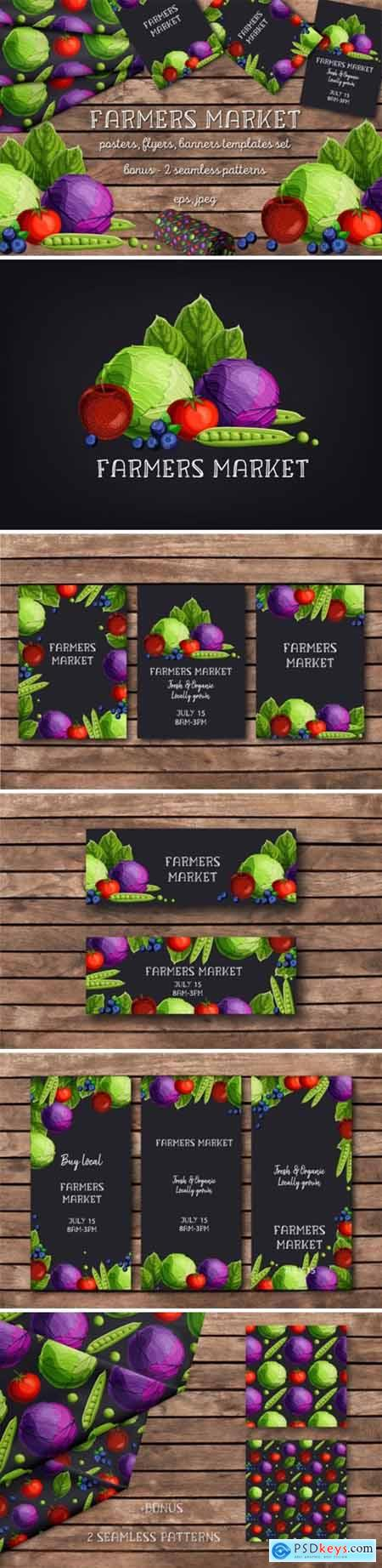 Farmers Market Templates Set 1687607