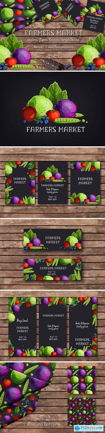 Farmers Market Templates Set 1687607
