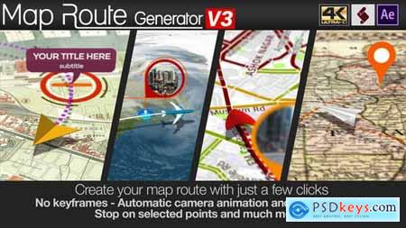 Videohive Map Route Generator 21686169