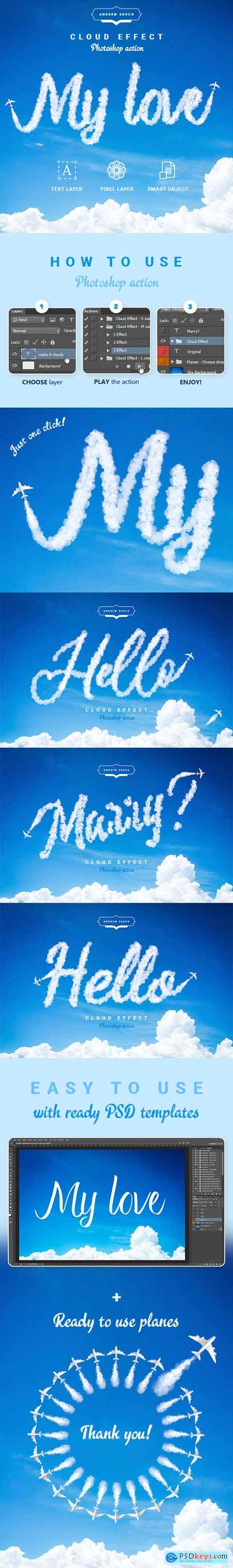 Cloud Text - Photoshop Action 24184126