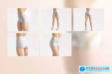 Yoga Shorts Mockup Set 3904466
