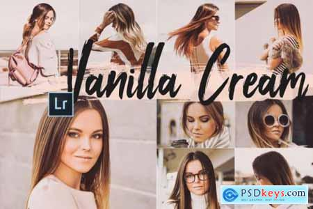 5 Vanilla Cream Desktop Lightroom Presets and ACR preset, clean warm LUts