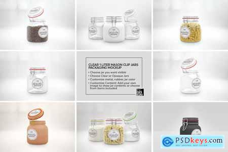 10 Clear Container Packaging Mockups 3991572