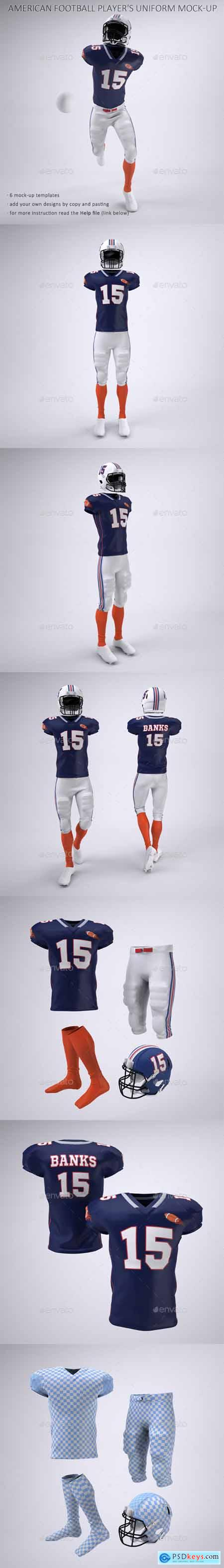 American Football Player's Uniform Mock-Up 23903919