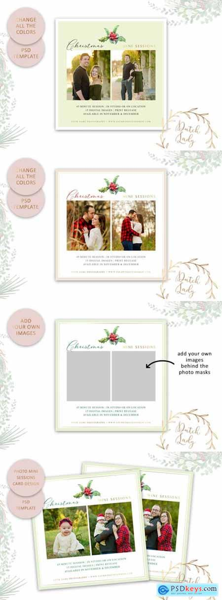 Photography Mini Session Advertising Card – Christmas & Holidays 49