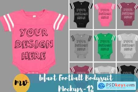 Infant Football Bodysuit Mockups