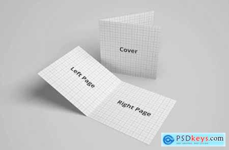 Bifold Brochure Greeting Card Mockup