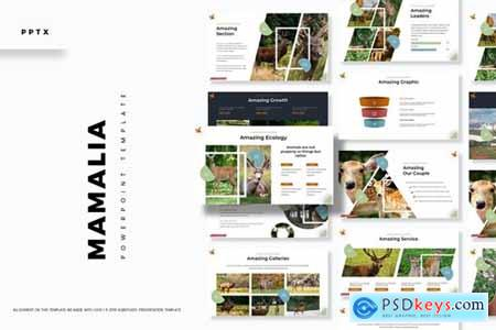 Mamalia Powerpoint, Keynote and Google Slides Templates