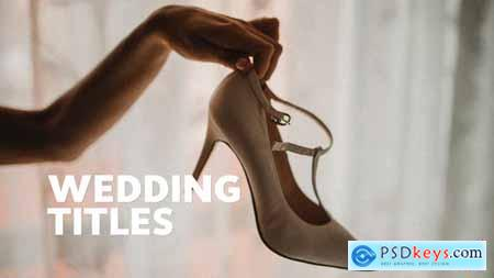 Videohive 50 Wedding Titles Essential Graphics Mogrt