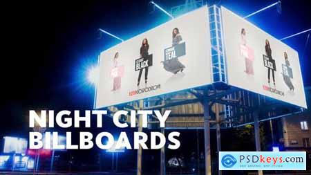 Videohive Night Billboard Mockup 23382178