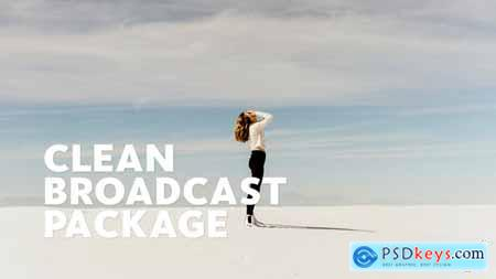 Videohive Clean Broadcast Package Essential Graphics Mogrt