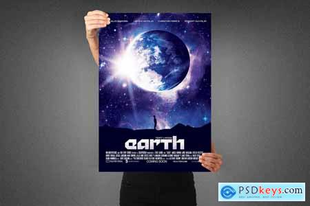 Earth Movie Poster Template 3990131