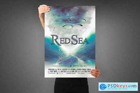 Red Sea Movie Poster Template 3990130