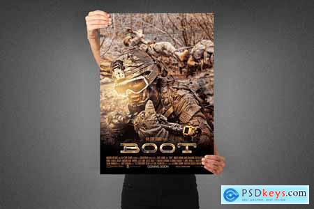 Boot Movie Poster Template 3991113