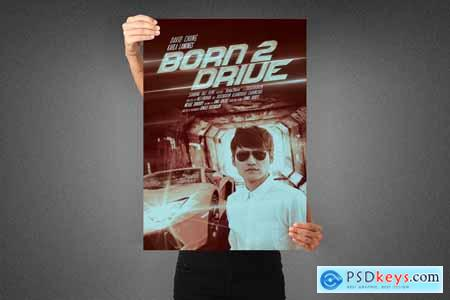 Born to Drive Movie Poster Template 3991739