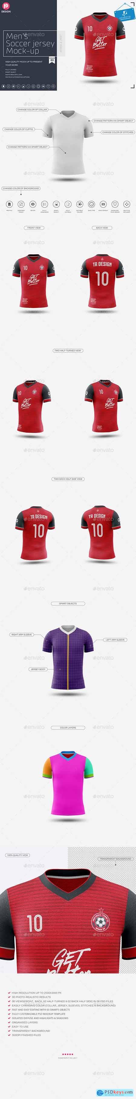 Men's Soccer Jersey Mockup V3 24206939