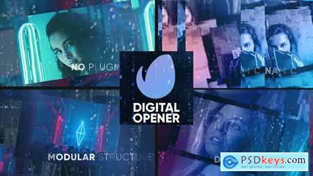 Videohive Digital Opener Slideshow 23147087