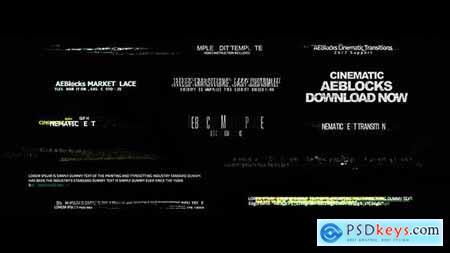 Videohive Cinematic Glitch Titles 2 19047569