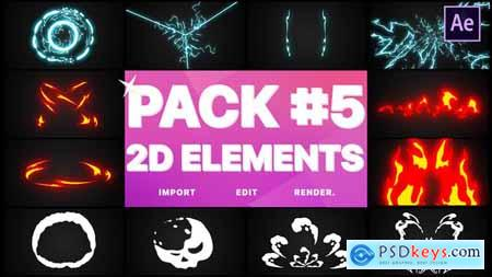 Videohive Elements Pack 05 After Effects 24368300 » Free