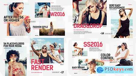 VideoHive Clean Modern Slideshow Fashion Opener Clothes Collection Stylish Models Gallery 15895246