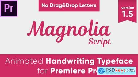 Videohive Magnolia - Animated Handwriting Typeface 23245313