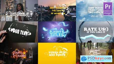 Videohive Cartoon Lyric Titles Premiere Pro MOGRT 23694934