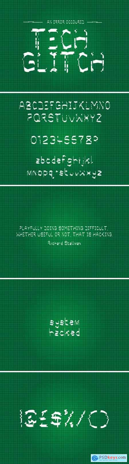 Tech Glitch Font