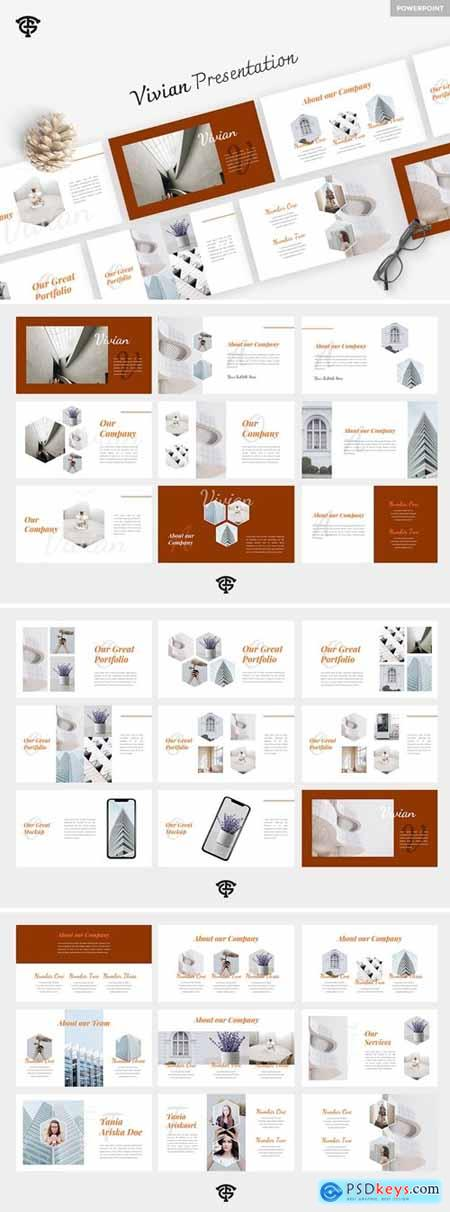 Vivian Creative Powerpoint, Keynote and Google Slides Templates