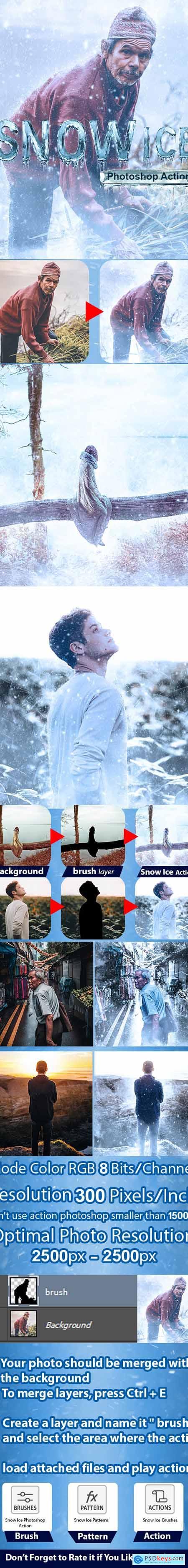 Snow Ice Photoshop Action 24254403