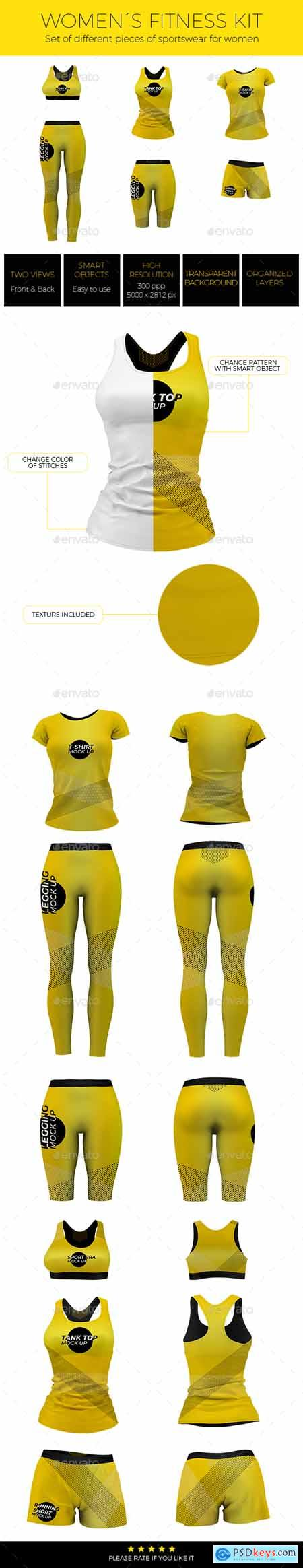 Women Fitness Kit Mock-up 24295113