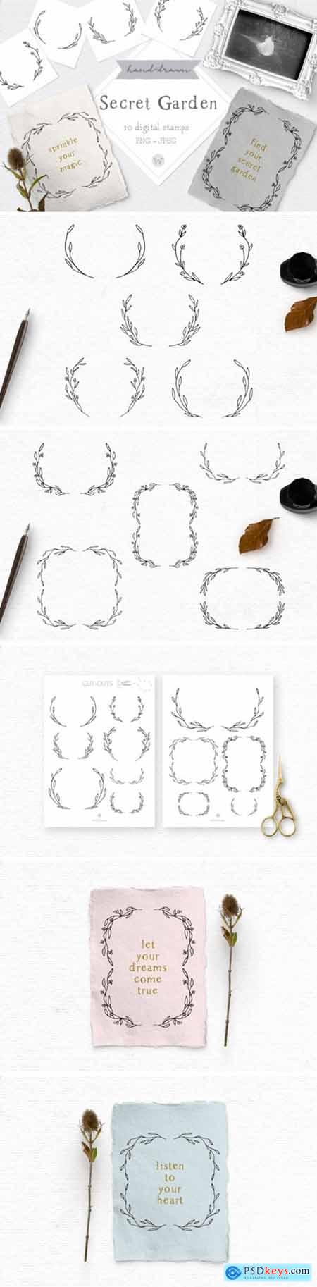 Hand Drawn Doodle Clipart Frames 1712043