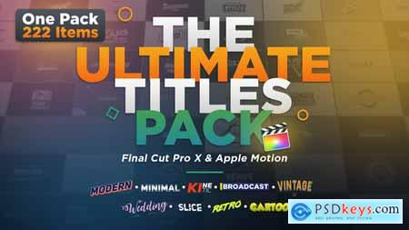 Videohive The Ultimate Titles Pack Final Cut Pro X & Apple Motion 24335454