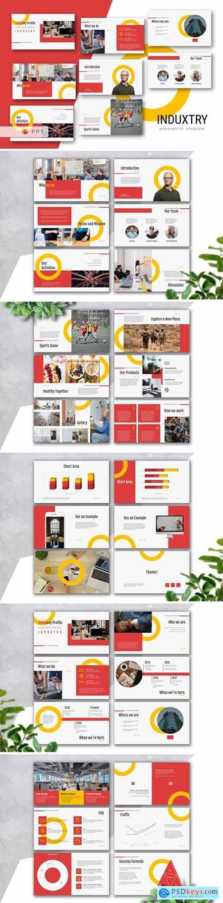 INDUXTRY - Company Profile Powerpoint, Keynote and Google Slides Templates