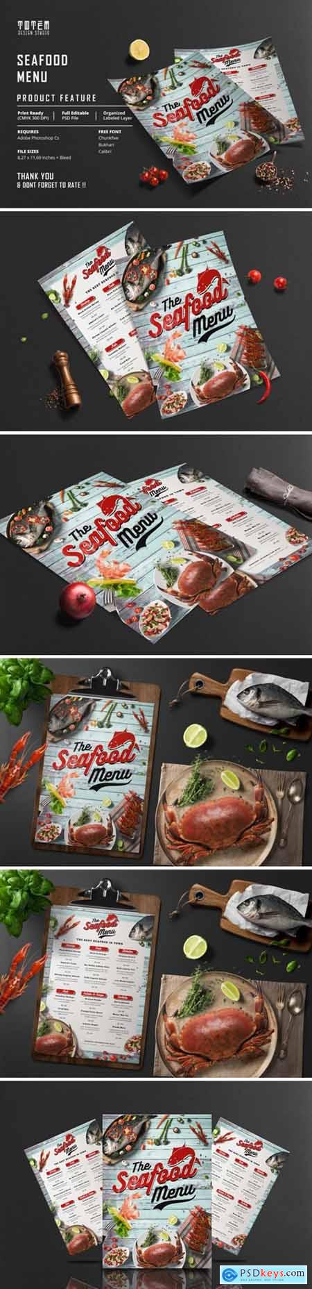 SEAFOOD FOOD MENU 3926289