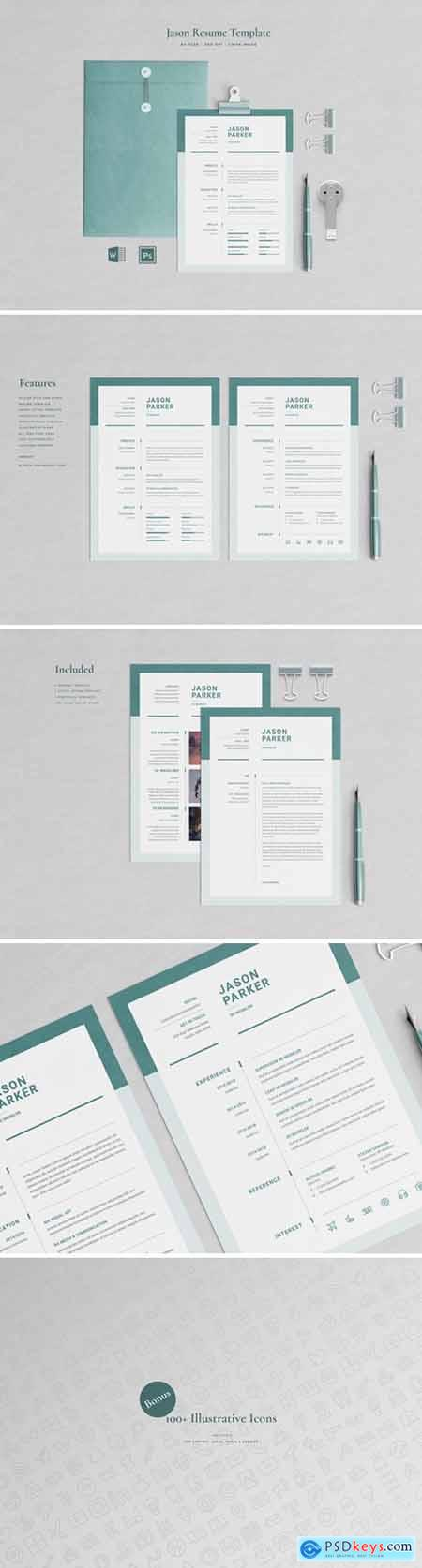 Jason Parker – Resume CV Template