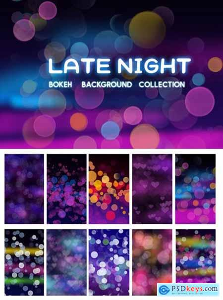 Late Night Bokeh Background Collection 1712200