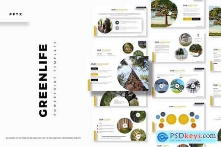 Greenlife Powerpoint, Keynote and Google Slides Templates
