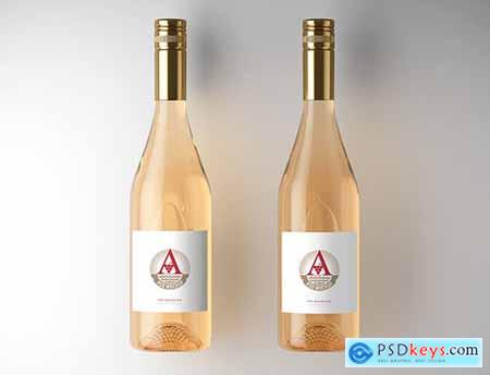 2 Wine Bottle Labels Mockup 225413996