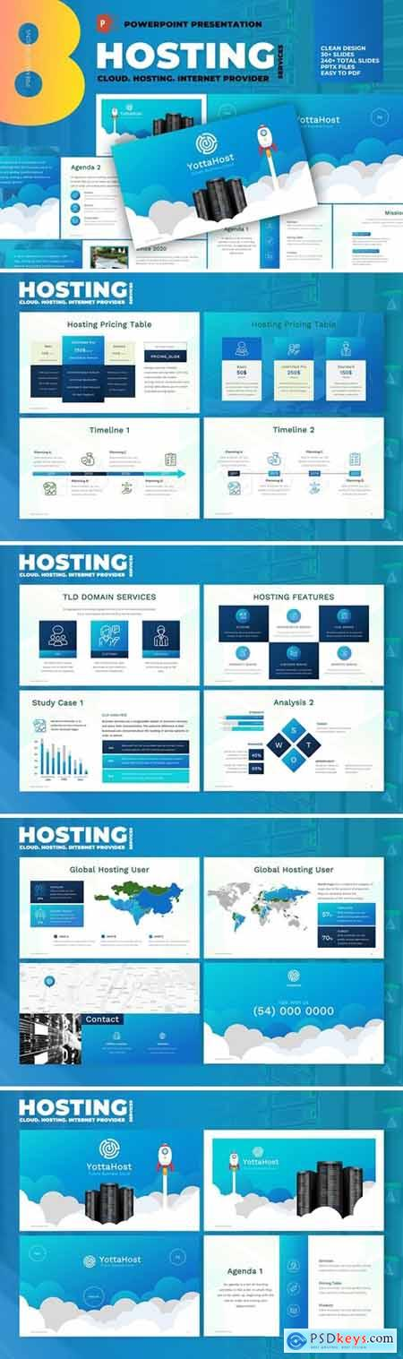 Hosting Company Profile Powerpoint Template