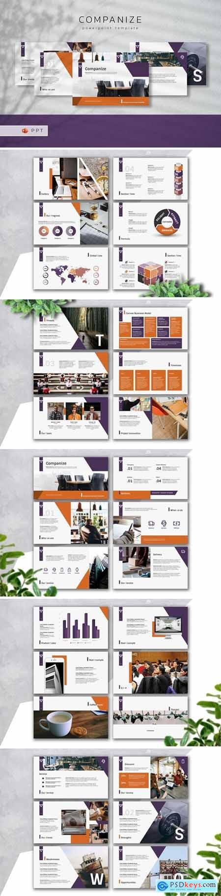 COMPANIZE Powerpoint, Keynote and Google Slides Templates