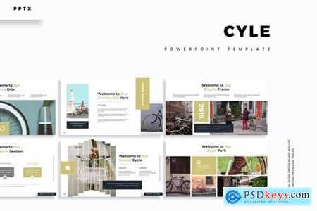 Cycle Powerpoint, Keynote and Google Slides Templates