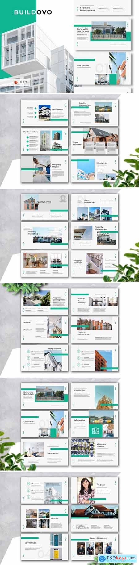 BUILDOVO - Real Estate Powerpoint, Keynote and Google Slides Templates